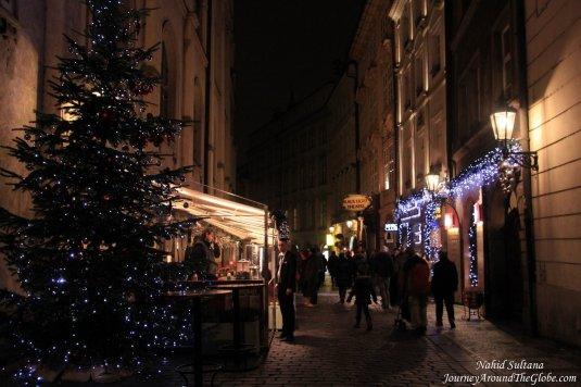 Christmas lighting in Old Town Prague