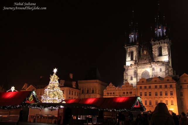 Main square of Old Town Prague and Church of Our Lady before Tyn