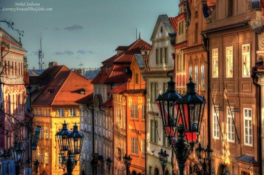 Old buildings in Lesser Town of Prague