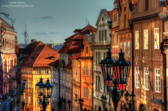 Old buildings in Lesser Town of Prague