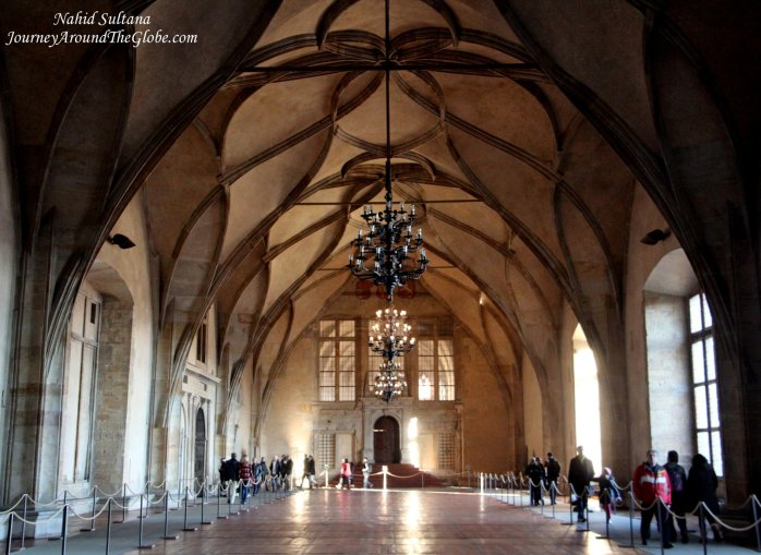 One of the halls of Prague Castle