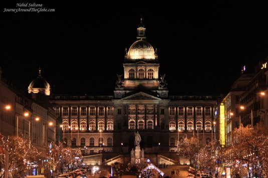 Christmas lighting in Wenceslas Square
