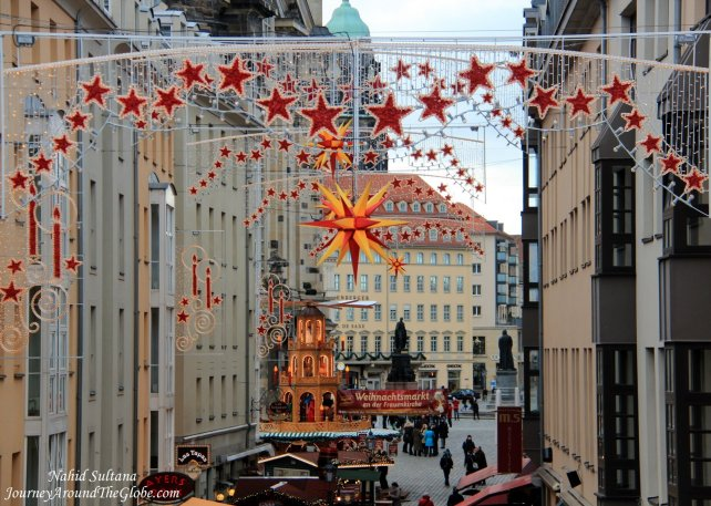 Christmas decoration in old town of Dresden