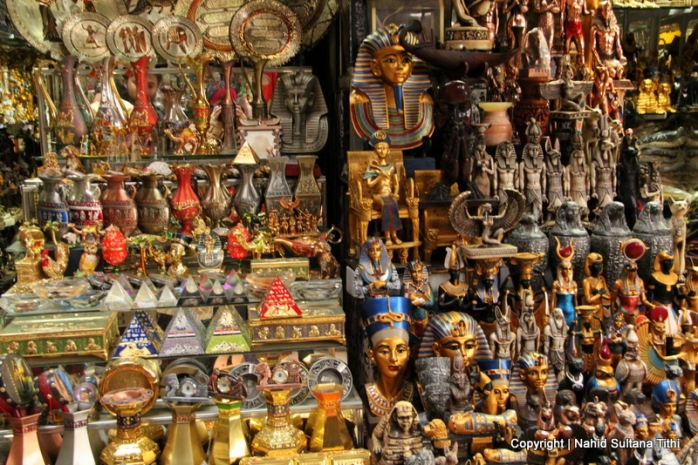 Some souvenirs in Khan El-Khalili Bazar in Cairo, Egypt