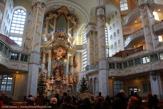 Inside Frauenkirche in Dresden