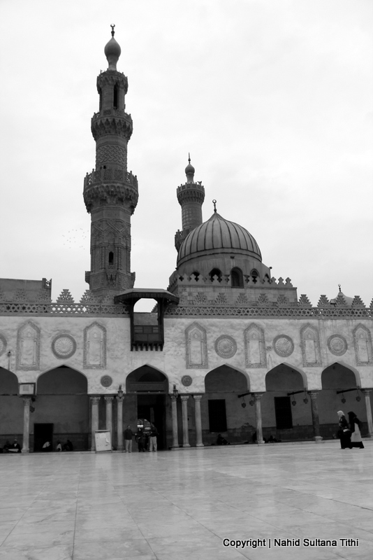 Courtyard of Al-Azhar Mosque in Cairo, Egypt - standing there since 970 AD
