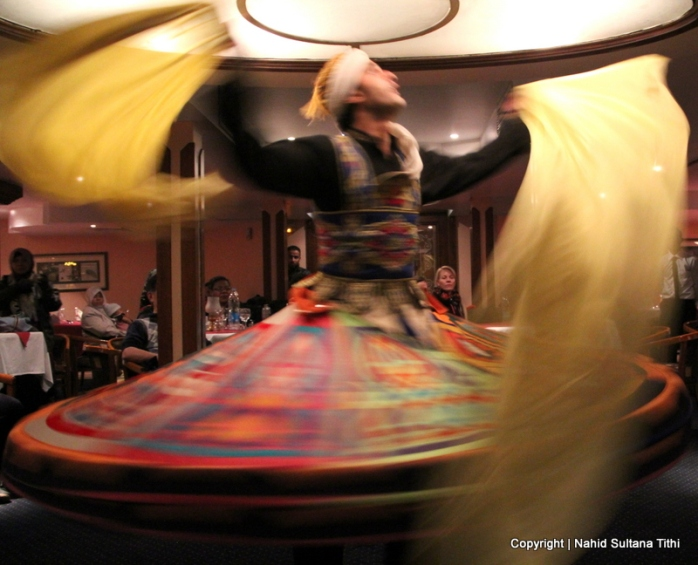 A Dervish performing Sufi dance during our Nile River cruise