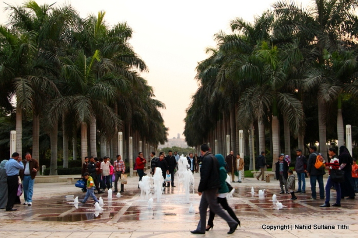 Al-Azhar Park in Cairo, Egypt