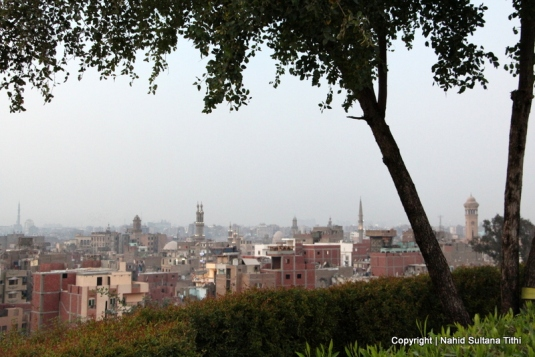 Looking at Islamic Cairo and its many minarets from Al-Azhar Park...no wonder Cairo is known as the City of Thousand Minarets