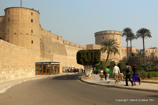 Walking towards Cairo Citadel, also known as Salahdin's Citadel in Cairo, Egypt