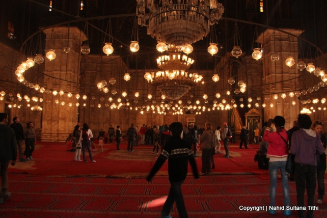 Inside Ali Pasha Mosque in Cairo, Egypt