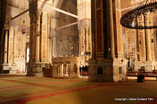 Prayer hall of Rifaii Mosque in Egypt, final resting place of Egypt's last king, King Farouq