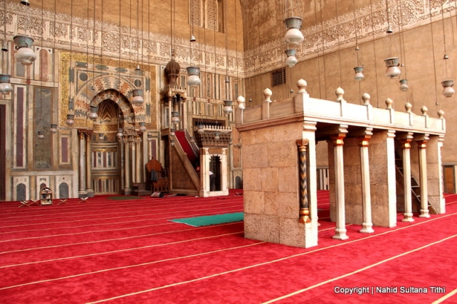 Inside Sultan Hasan Mosque in Cairo, Egypt - a great example of Mamluk dynasty architecture