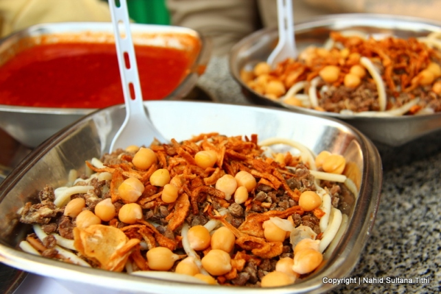 Kushari, a yummy street food of Cairo