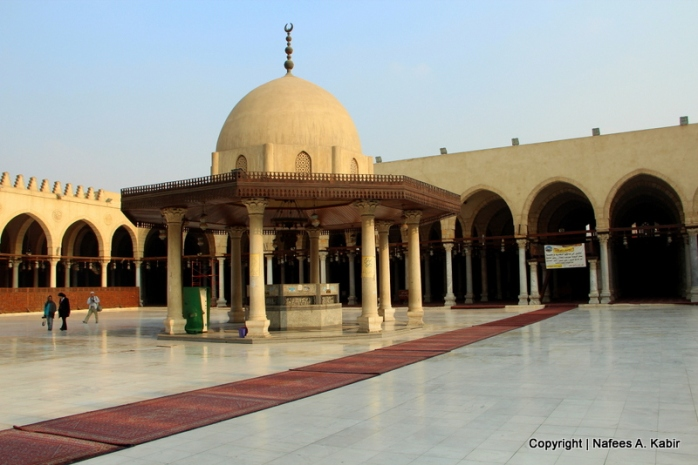 Courtyard of Amr Ibn Al-As Mosque, the oldest mosque in Egypt from 642 AD