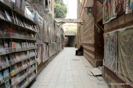 Old and narrow alley of Coptic Cairo, Egypt