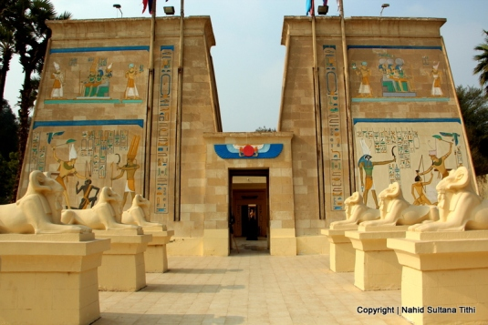 A copy of Temple of Abu Simbel in Pharaonic Village, Egypt
