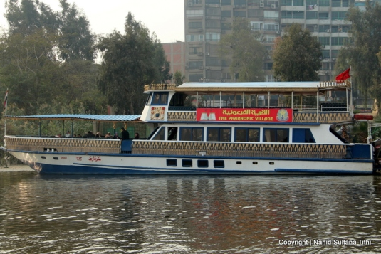 Our Neferteri Yacht in Pharaonic Village, waiting to take us to River Nile