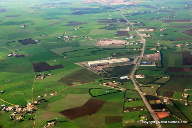 Countryside of Marrakech from our plane