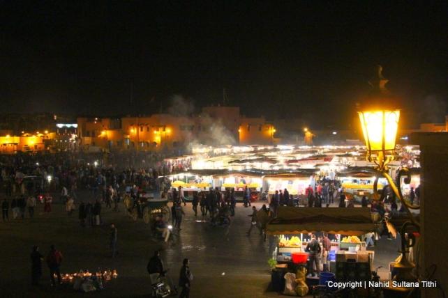 Djemma El-Fna at night, Marrakech