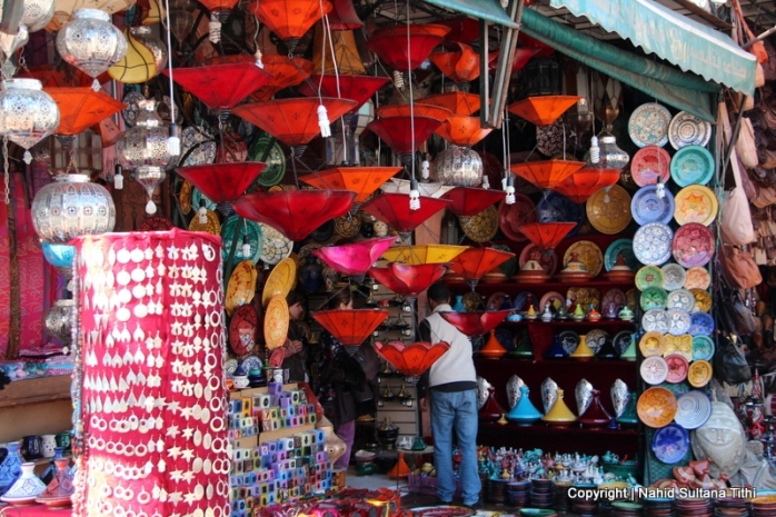 A souvenir shop near Djemma El-Fna, Marrakech