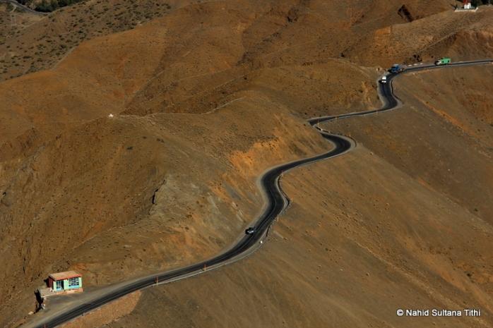 Roads thru Atlas in Morocco