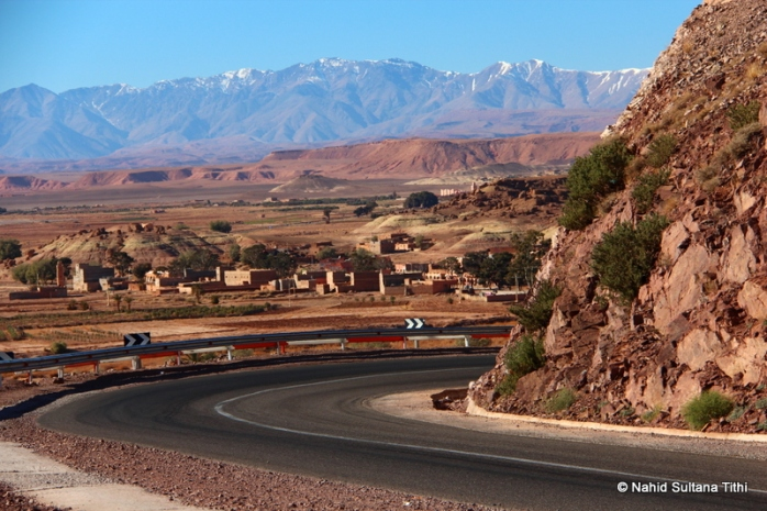 Road to Ouarzazate...beautiful snow-capped mountains and the valley
