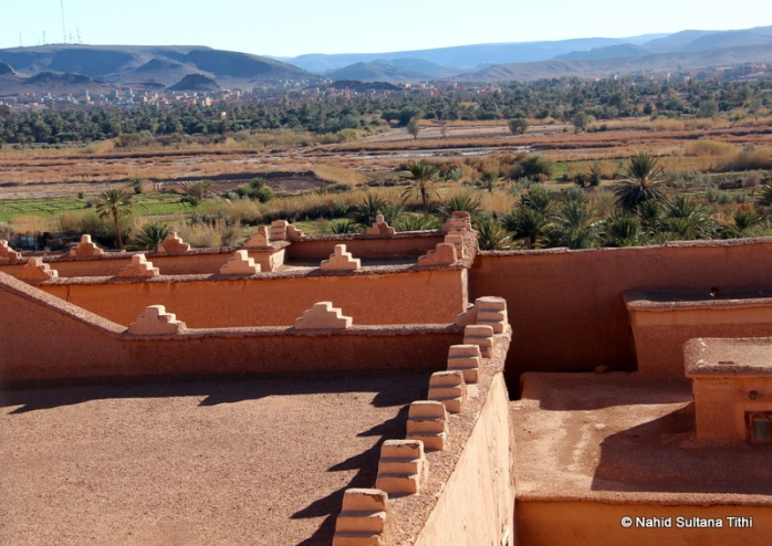 View from one of the windows of Ouarzazate Kasbah, Morocco