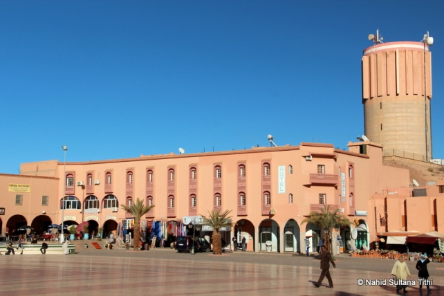 The main square or center of Ouarzazate, Morocco