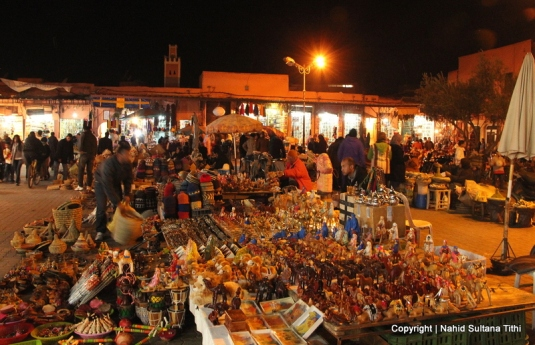 Marrakech souks after dark