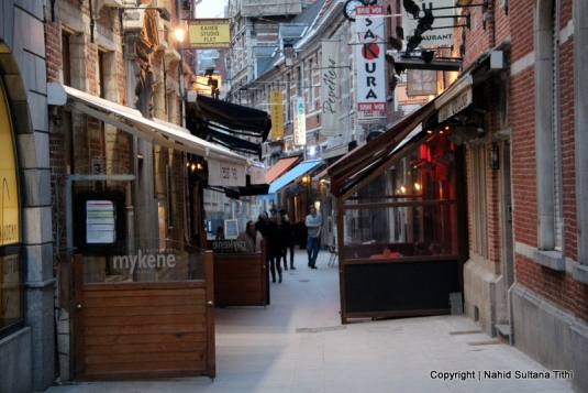 Muntstraat, Leuven's main culinary street, Belgium