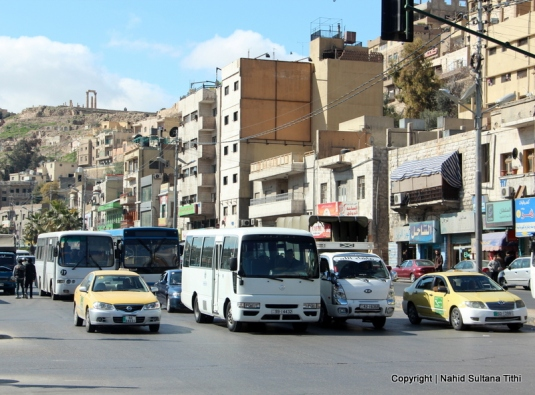 Busy street of Old Amman, Jordan