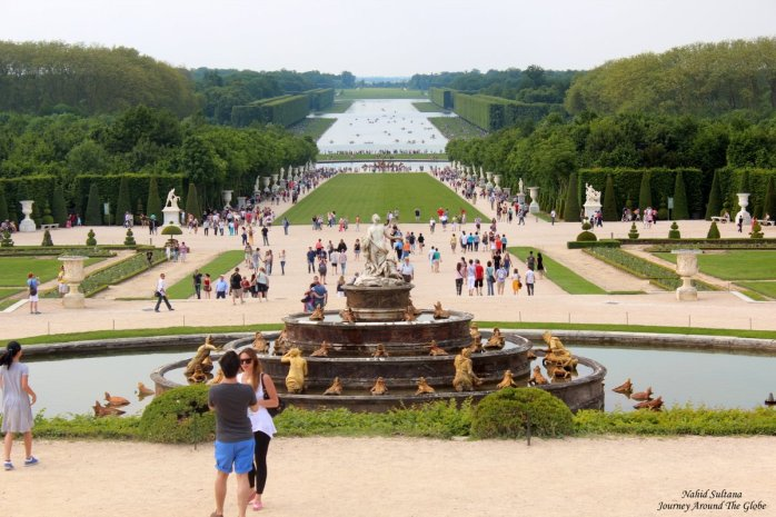 An overview of Versailles Garden in France