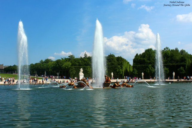 A big fountain (think it was Apollo Fountain) in Versailles Garden in France