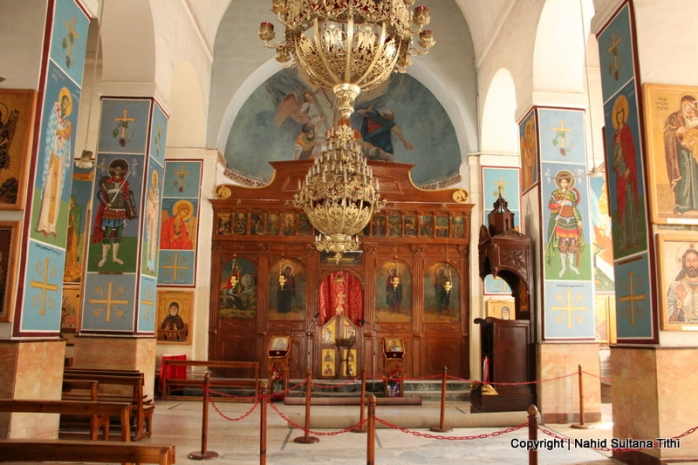 Greek Orthodox Church of St. George in Madaba which houses the mosaic map of Holy Land from the 6th century.