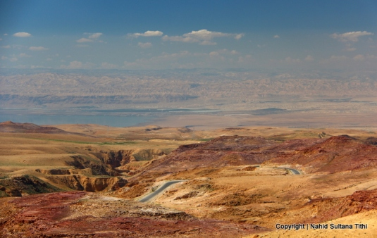 "View of ""Promised Land"" - Jericho, Jerusalem, and Dead Sea from Mt. Nebo, Jordan"