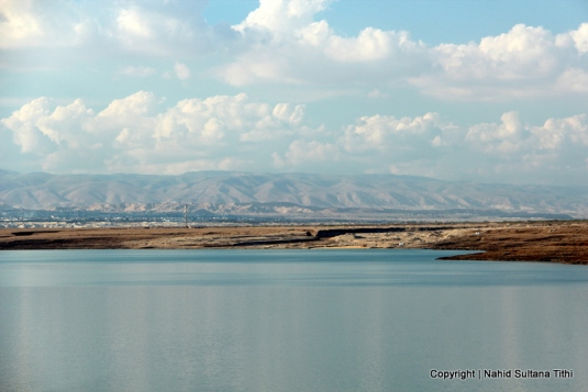 Dead Sea, Jordan...looking at West Bank on the other side