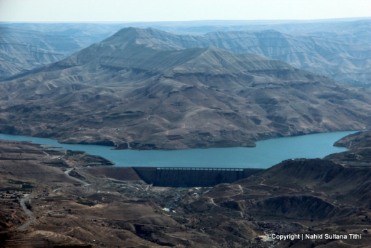 Wadi Mujib and Dam Al Mujib from the view-point