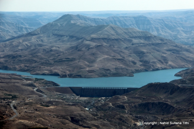 Wadi Mujib and Dam Al Mujib from the view-point