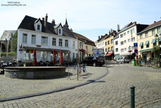 Main square or the city center of Tervuren, a small Flemish town in Belgium
