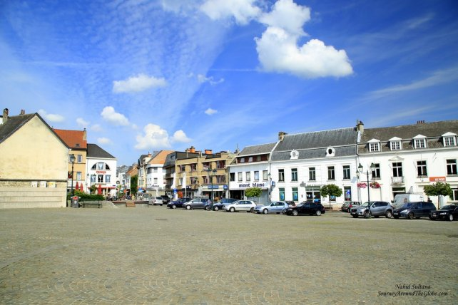City center of Tervuren in Belgium
