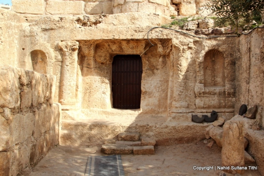 The door of Ashabul Kahf, Jordan - the cave of 7 sleepers
