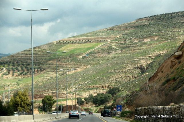 On our way to Ajloun, Jordan...beautiful scenic drive