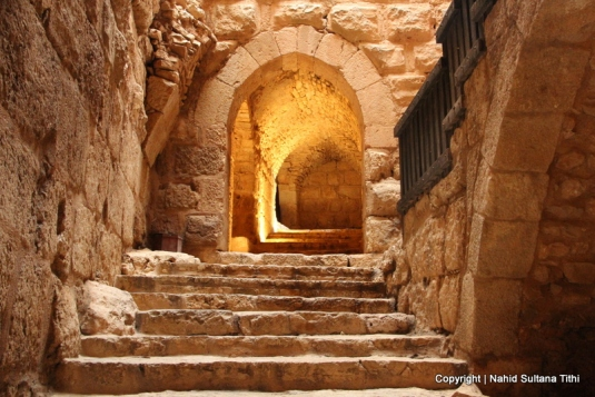 Inside Ajloun Castle (from the 12th century) in Ajloun, Jordan