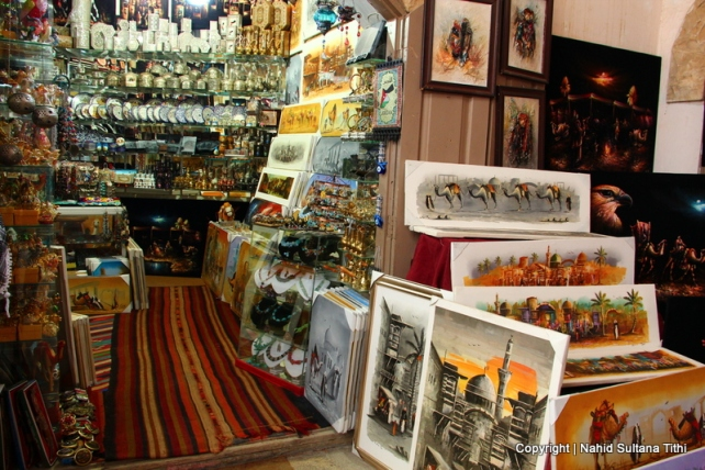 Souvenir shop in Jarash where we bought our painting from