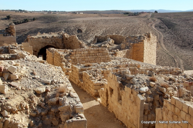 Ruins of Shobak Castle in Jordan