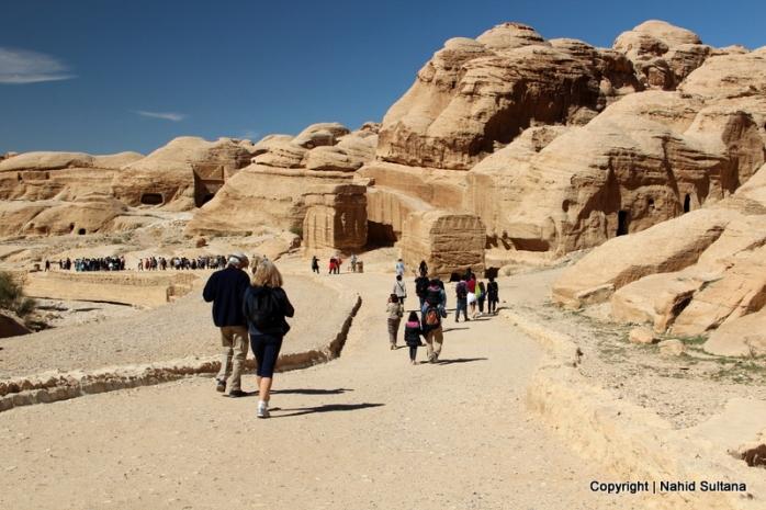 Walking from Visitors' Center to Bab Al-Siq in Petra, Jordan