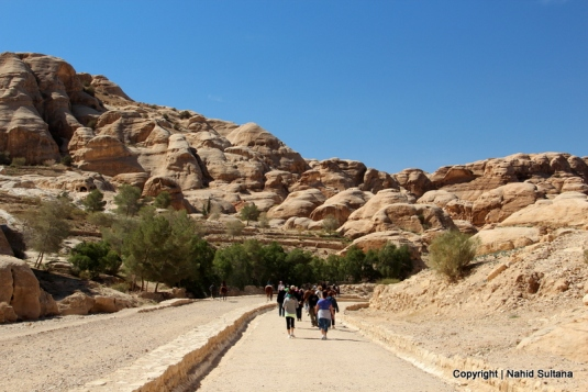 Entering Rose-Red City of Petra in Jordan