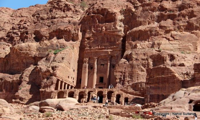 Royal tombs and memorials of Nabataeans in Petra, Jordan