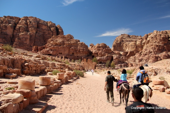 From my mule - riding thru the Roman ruins of Petra